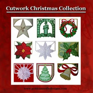 Christmas Cutwork Machine Embroidery Designs