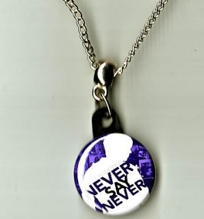 Justin Bieber Never Say Never Pendant Necklace CD Love