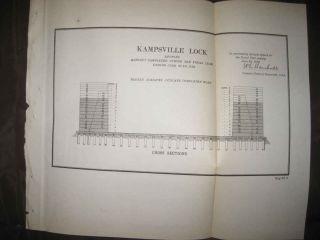 Fine Antique 1892 Kampsville Lock Illinois Calhoun County Map River