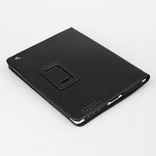 grano de litchi de protección pu funda de cuero con soporte para iPad
