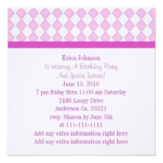party invitation pretty rocking horse and diamonds party invitation
