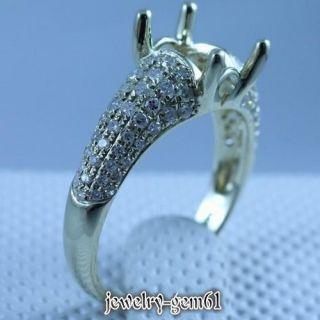 14kt Yellow Gold Natural Diamond Semi Mount Engagement Ring