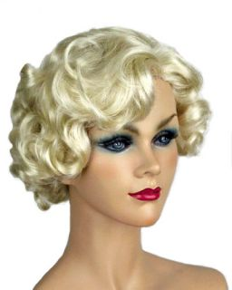 Marilyn Monroe Light Pale Blonde Curly Skin Top Wig