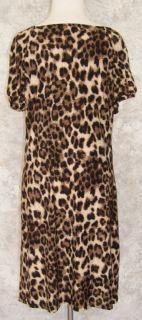 Inc International Concepts Sweet Leopard Dress XL Stretch Jersey Sexy