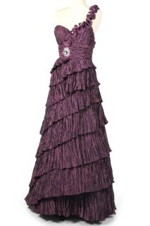 New Nika Niki Kapoor Womens Beautifully Ruched Formal Gown in