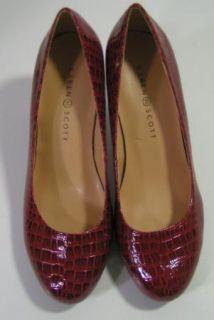croc print pumps heels shoes size 8 m description karen scott new red