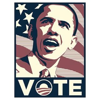Wall Art  Posters  OBAMA VOTE. Poster