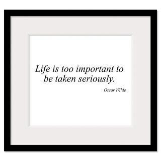 Oscar Wilde quote 46 Framed Print