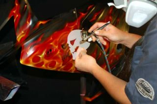 Live Fire True Realistic Flames Airbrush Paint Kit Auto