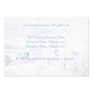 Snow Scene Wedding Enclosure Personalized Invitations
