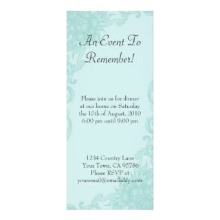 Classic Floral Elegance Dinner Party Invitation