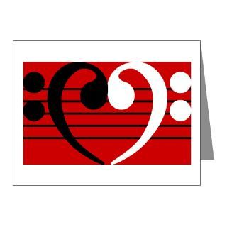 Bass Clef Thank You Note Cards