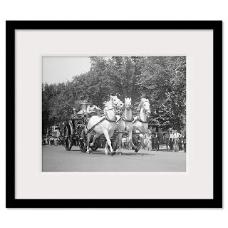 Fire Department Horses. Washington, D.C. 1925. Framed Print