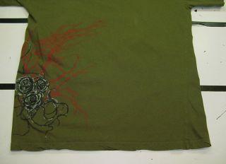 La Ink Kat Von D Tattoo Skull Snake Silver Foil T Shirt Sz Mens L