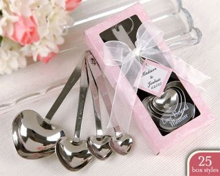 Wedding Shower Favors 36 Bulk Heart Measuring Spoons