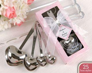 Wedding Shower Favors 36 Bulk Heart Measuring Spoons