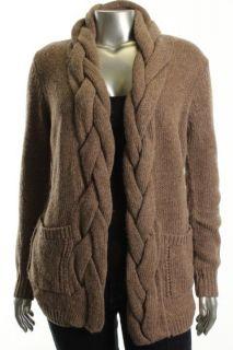 Karen Kane New Brown Knit Car Coat Cardigan Sweater M BHFO