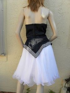 Karen Okada David Howard Amazing 80s Strapless Dress