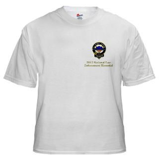 2012 Natl Law Enforcement w/Blue Stripe Logo T Shirt