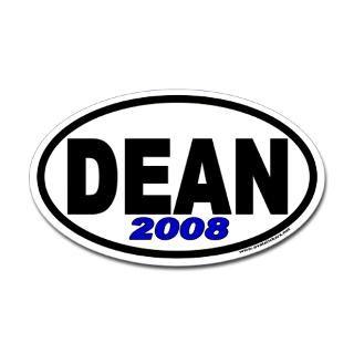 Howard Dean for President 2008 Euro Oval Sticker
