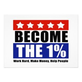 Become the One Percent, Anti Occupy Wall Street Announcements