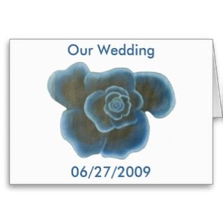 Blue Rose, Our Wedding, invitation cards