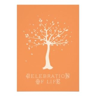 Celebration of Life   Custom   Elegant Tree Motif Personalized