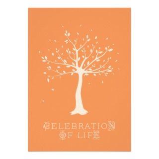 Celebration of Life   Custom   Elegant Tree Motif Personalized
