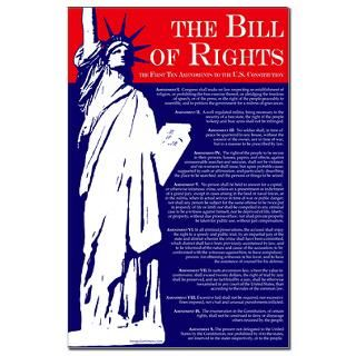 Bill of Rights 11x17 Poster  Proud Liberal Bumper Stickers and