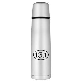 13.1 Gifts  13.1 Drinkware  13.1 Half Marathon Oval Large Thermos