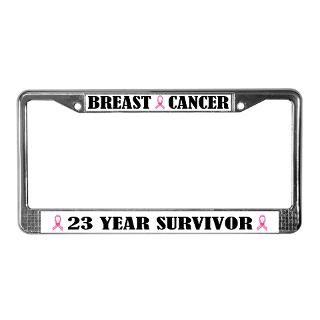 Breast Cancer 23 Year Survivor License Frame for $15.00