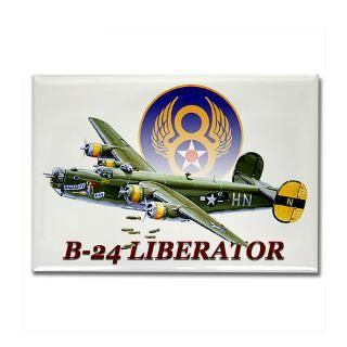 WWII 8th Air Force B 24 Liberator Rectangle Magnet for $4.50