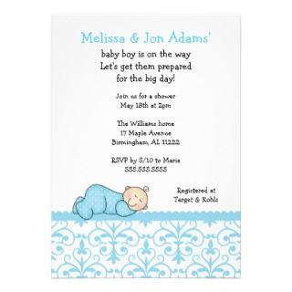 co ed baby shower invitations announcements invites