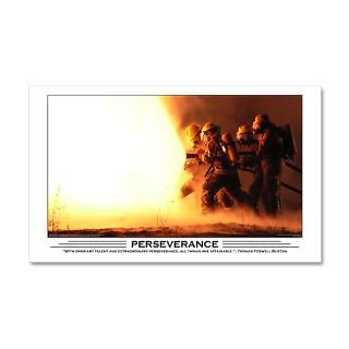 Fire Wall Decals  Firefighter Perseverance 38.5 x 24.5 Wall Peel