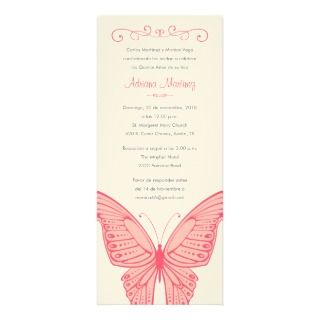 and pink quinceanera butterfly invitations quinceanera invitation