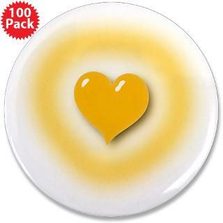 Christian Gifts  Christian Buttons  Heart and Halo 3.5 Button