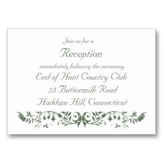 Catholic Wedding Set Reception Insert Template CC business cards by