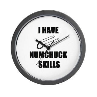 have numchuck skills wall clock $ 15 51