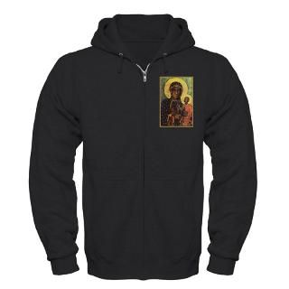 black madonna of czestochowa zip hoodie dark $ 53 99