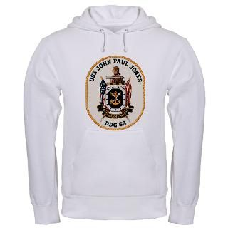 USS John Paul Jones DDG 53 Hooded Sweatshirt