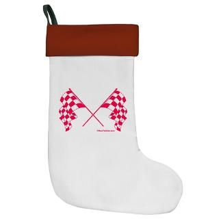 Pink Crossed Checkered Flags  RaceFashion Auto Racing T shirts