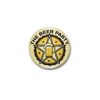 THE BEER PARTY Square Car Magnet 3 x 3