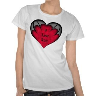 Cute gothic Valentines day red heart on gray Custom Announcement