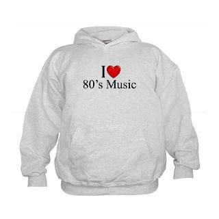 1980S Sweatshirts & Hoodies  I Love (Heart) 80s Music Hoodie