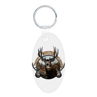 Trophy monster mule deer Aluminum Oval Keychain