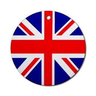 Uk Brit British Union Jack Christmas Ornaments  Unique Designs