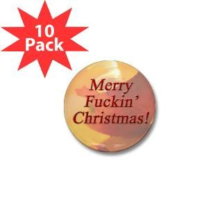 Merry Fuckin Christmas Mini Button (10 pack)