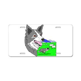 Border Collie Aluminum License Plate