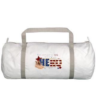 Air Force Gifts  Air Force Bags  Hes My Hero (Son) Gym Bag