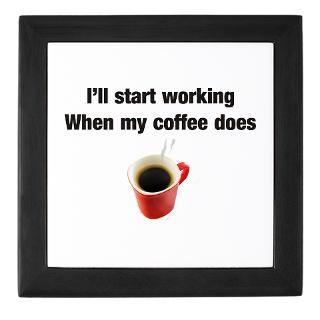 Funny coffee humor Framed Tile by funnytshirt2006